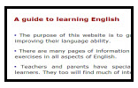 A guide to learning English